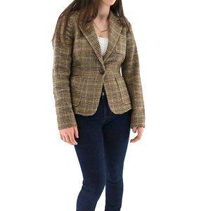 J. CREW 100% Wool Vintage Houndstooth  Blazer #BV4